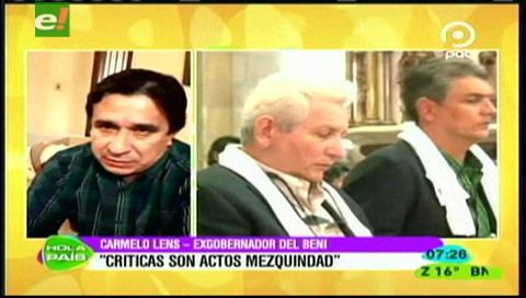 Lens asegura que no recibe financiamiento de Doria Medina y que apoya la unidad para enfrentar al MAS
