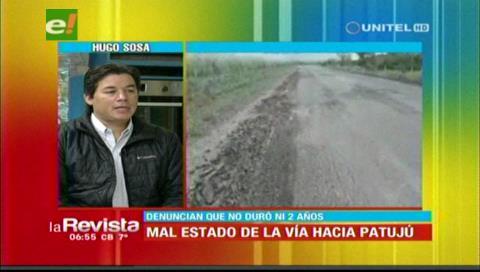 Gobernación cruceña descarta sobreprecio en la carretera Montero-Patujú