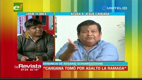 """Jaime Flores: """"Cahuana y Lavardenz tomaron por asalto el mercado La Ramada"""""""