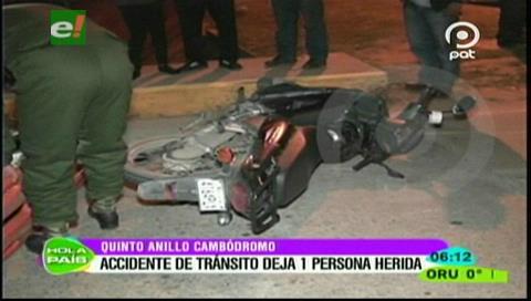 Motociclista resulta herido en accidente de tránsito