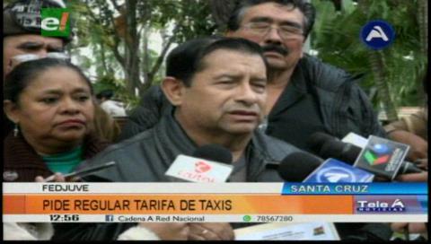 Fejuve pide a la Alcaldía cruceña regular la tarifa de taxis