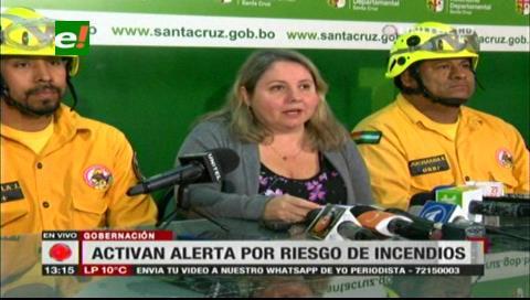 Gobernación cruceña declara alerta amarilla por riesgo de incendios forestales
