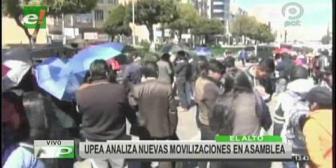 Los piquetes de huelga de hambre de la UPEA siguen en predios de la UMSA
