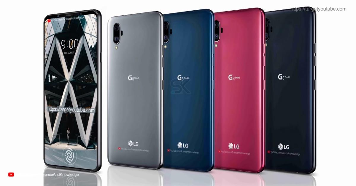 Colores para el concepto del LG G8 ThinQ