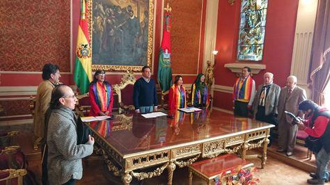 Acto de promulgación de Ley de Promoción y Respeto a los Derechos Humanos de las Personas con Diversa Orientación Sexual e Identidad de Género.