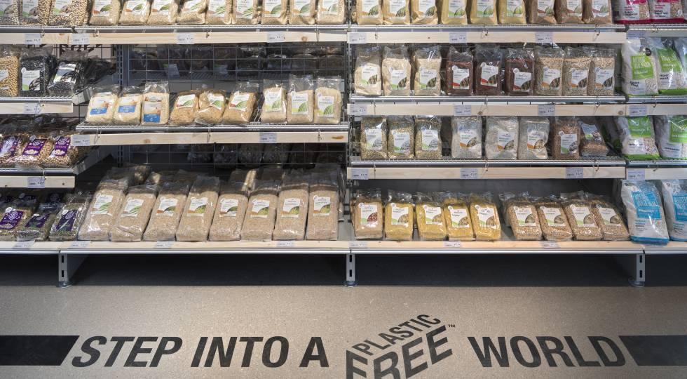 Ekoplaza, primer supermercado holandés con envases sin plástico.