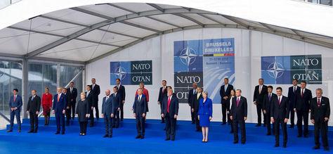 La cumbre de jefes de Estado de la OTAN en Bruselas. Foto: EFE