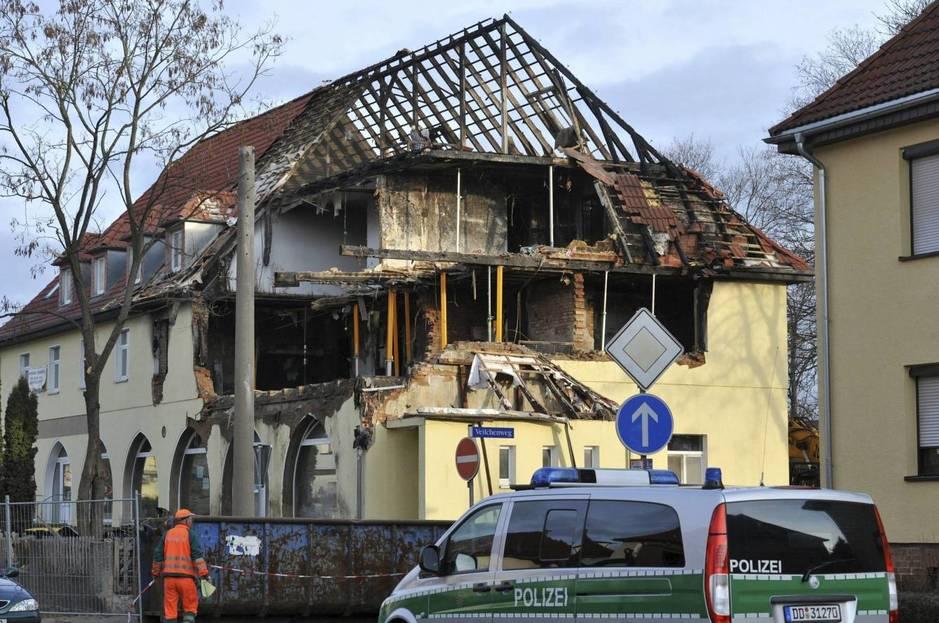 Apartamento de la célula en Zwickau tras la explosión, en noviembre de 2011. (EFE)