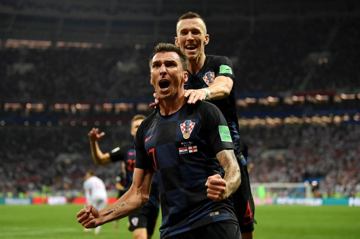 Mandzukic celebra el gol.
