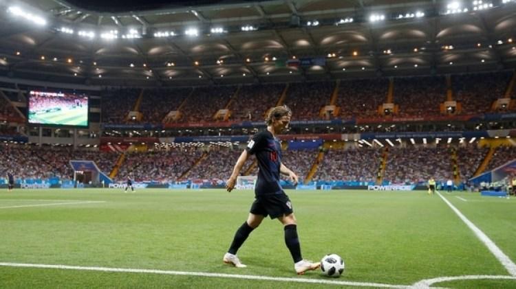 Luka Modric en el partido ante Islandia por la fase de grupos en Rusia 2018 (REUTERS/Marko Djurica)