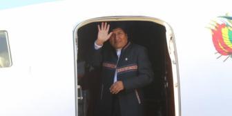Morales viajó 10 veces al exterior en lo que va del año