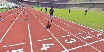 Inauguran pista atlética del estadio Hernando Siles