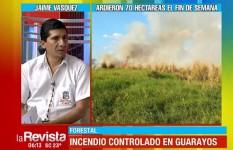 Guarayos registró unas 500 hectáreas afectadas por los incendios desde junio