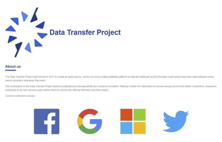 Google, Facebook, Microsoft y Twitter, unidos en un proyecto de datos