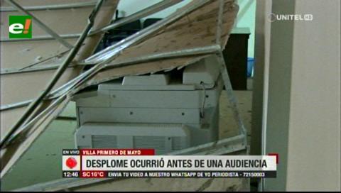 Techo de la casa judicial de la Villa Primero de Mayo se derrumba tras los fuertes vientos