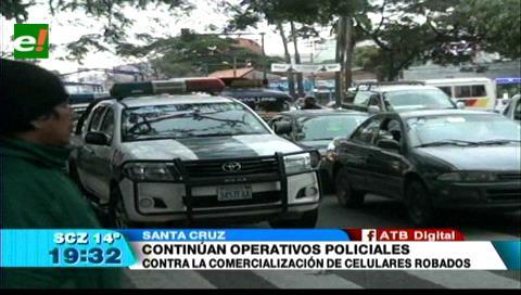 La Policía continúa los operativos contra el comercio de celulares robados