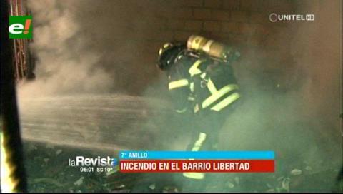 Incendio consume un domicilio en el barrio Libertad