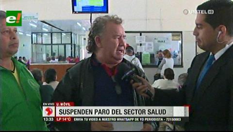 Santa Cruz: Trabajadores en salud suspenden paro