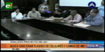 Técnicos se reunieron con autoridades para analizar normativa de celulares