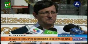 Senador Ortiz pide al Gobierno certificar las reservas de gas en el país