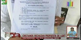 Santa Cruz: Cristianos rechazan propuesta realizada por colectivo LGBT