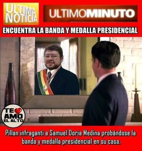 Roban la medalla y la banda presidencial de Bolivia