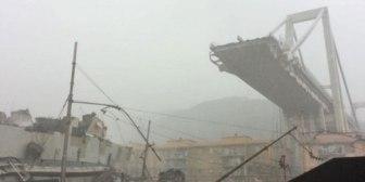 Se derrumbó un puente de 90 metros de altura en una autopista en Génova: al menos 11 muertos y 5 heridos graves
