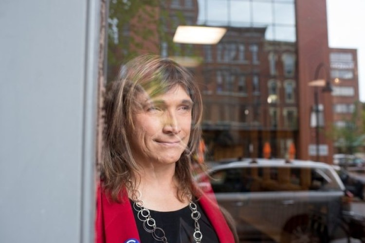 Christine Hallquist. REUTERS/Caleb Kenna