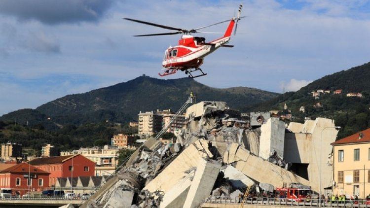 Imágenes de devastación luego de la tragedia.