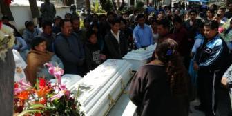 Cochabamba: Dan el último adiós a los tres niños asesinados en la zona sur