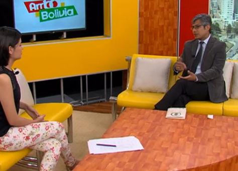 El viceministro de Seguridad Ciudadana, Wilfredo Chávez. Captura Bolivia Tv