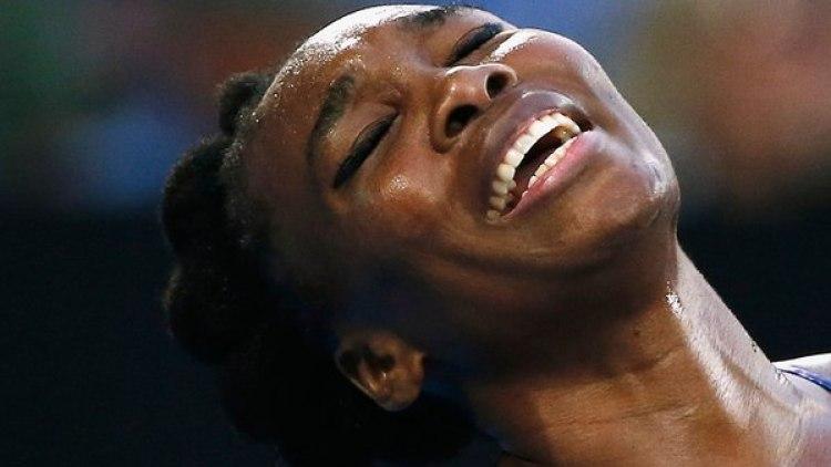 Serena Williams vivió un difícil momento horas antes de su partido ante Johanna Konta (Reuters)