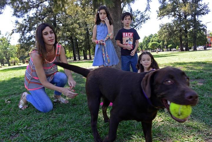 """Una familia de """"socialización"""" cuida al perro Afrika, antes de que se entregue a su dueño (David Fernández)"""