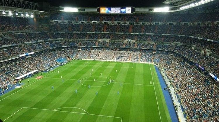 El Santiago Bernabéu, con muchos espacios vacíos ante Getafe