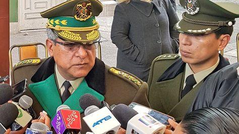 El comandante de la Policía, general Faustino Mendoza. Foto:Policía