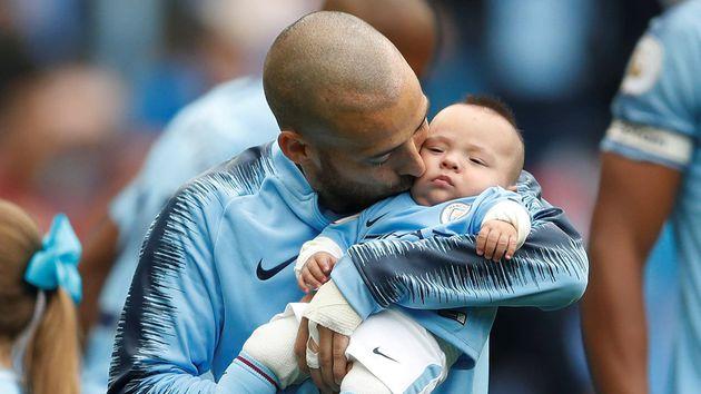 El tierno momento de David Silva junto a su hijo Mateo