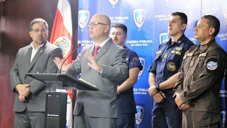 El ministro de Seguridad Públicade Costa Rica, Michael Soto.
