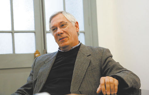 Diplomacia. El expresidente durante la conversación que sostuvo ayer con La Razón. Foto: Luis Gandarillas