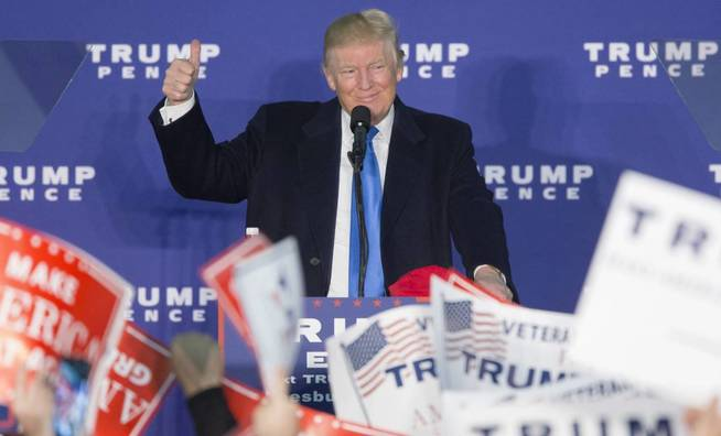 Trump, en un mitin cuando aún era solo candidato presidencial. (Reuters)