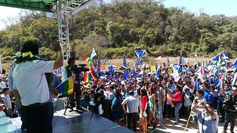 El presidente Evo Morales en Chuquisaca. Foto:Ministerio de Comunicación