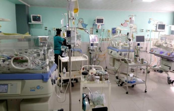 Los cuatrillizos se recuperan estables en el hospital Gíneco Obstétrico. CORREO DEL SUR