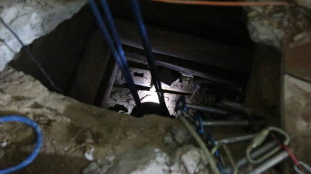 Foto: Imagen de la entrada al túnel (Imagen: vídeo patrulla fronteriza de Yuma)