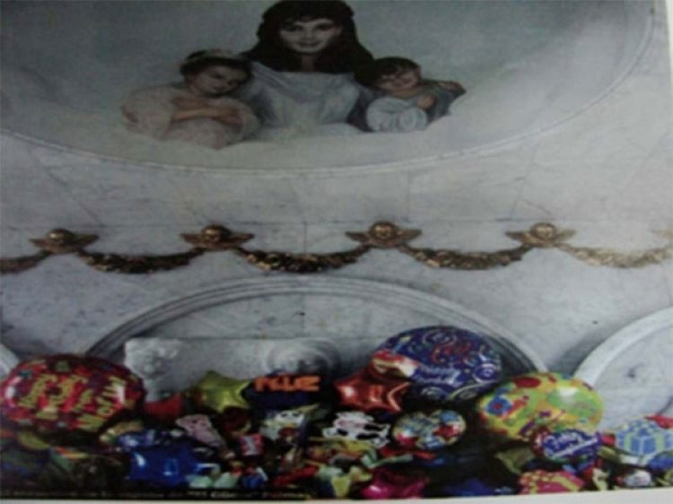 Otros de los aspectos del interior del mausoleo de la familia Palma Lejía