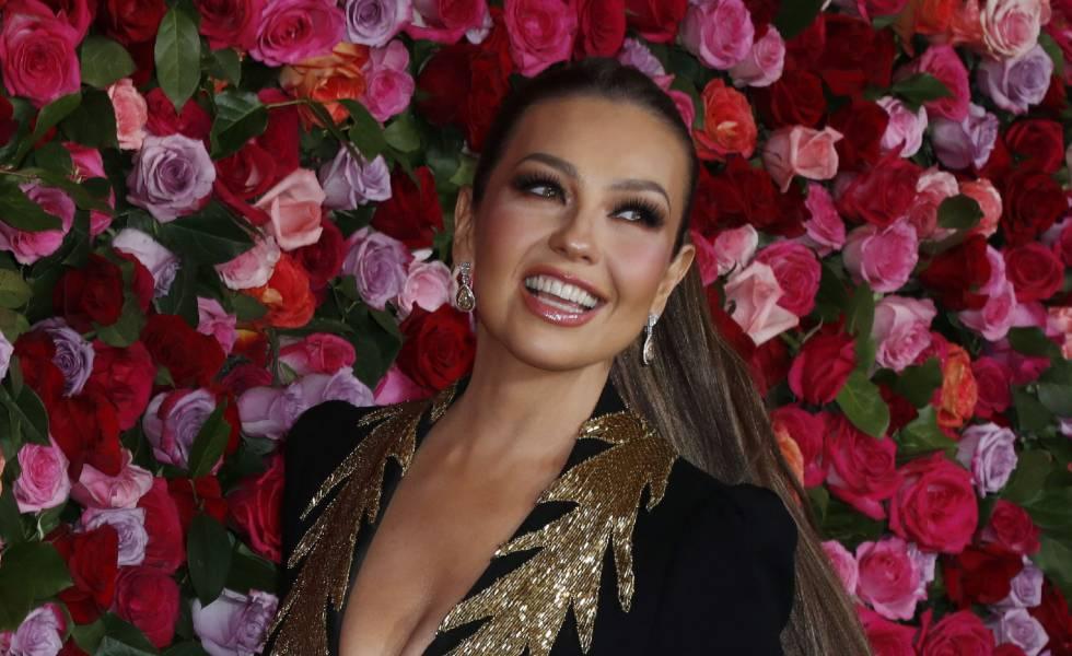 Thalía en los Premios Tony 2018 el 10 de junio, en Nueva York.