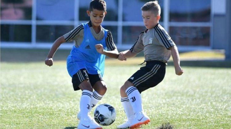 El hijo de Cristiano Ronaldo ha comenzado a jugar en la cantera de la Juventus
