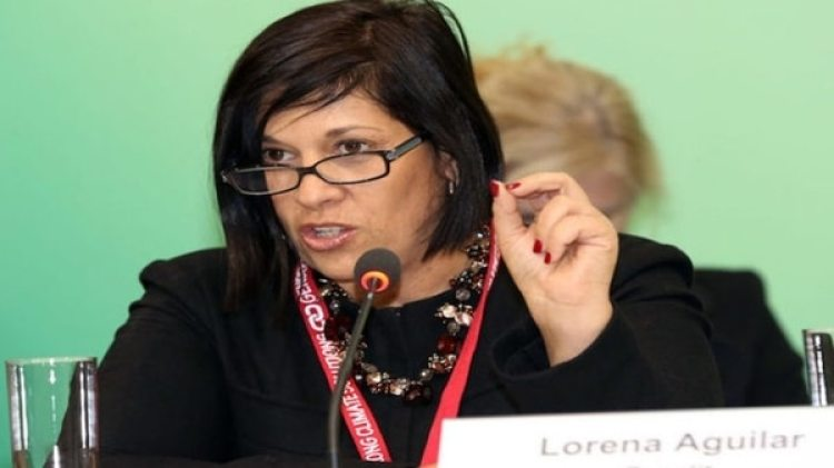 La vicecanciller de Costa Rica Lorena Aguilar