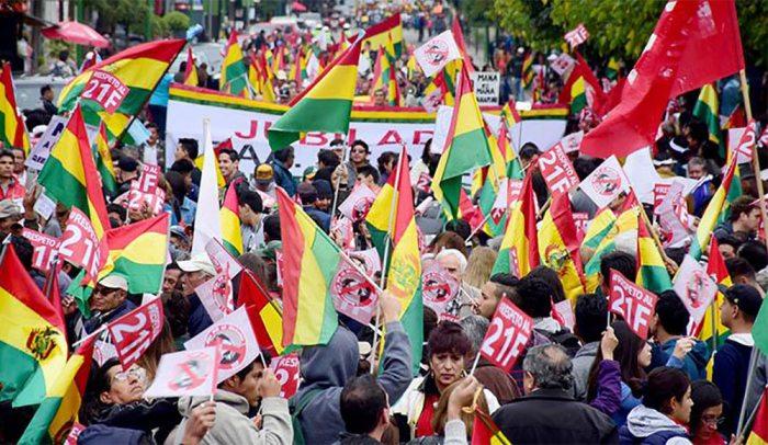 """PLATAFORMAS POR EL 21F CON """"¡BOLIVIA DIJO NO!"""""""
