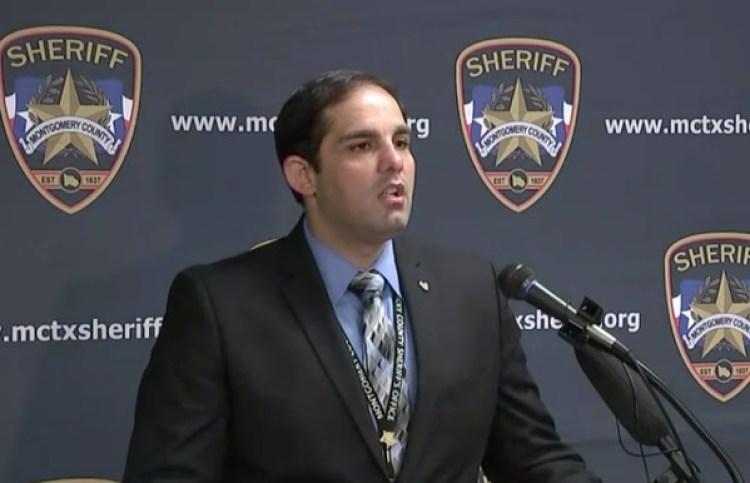 El teniente Scott Spencer, de la Oficina del Sheriff del Condado de Montgomery, durante la conferencia de prensa en la que dio a conocer los detalles del caso