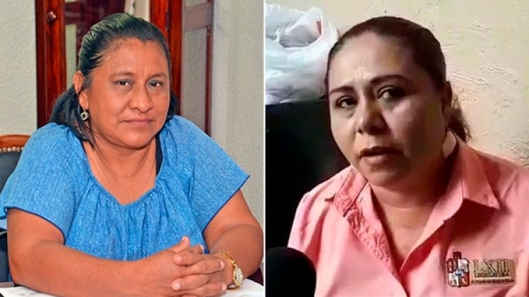 La diputada Candelaria Pérez (izquierda) exigía a Ángela Castillo (derecha) cumplir labores domésticas.