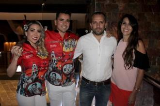 Adriana Eterovic, Ruben Antelo, Alvaro Mendizábal y Cinthya María Suárez, jefe de trade y eventos CBN